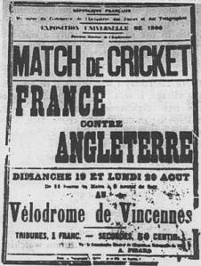 Match de Cricket