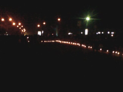 Candle light vigil. The beginning of the very beginning!