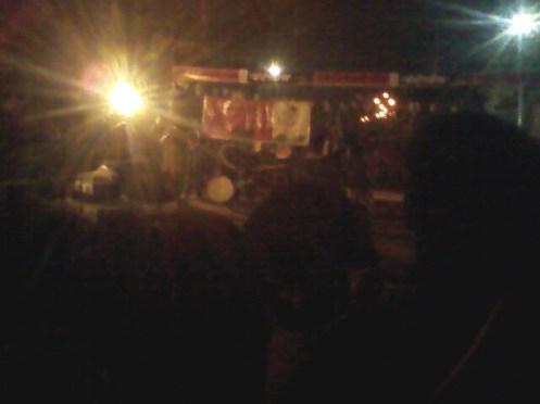 Teerandaj as usual is staging the street theater.
