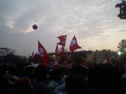 Muktijoddha Sangsad flags.