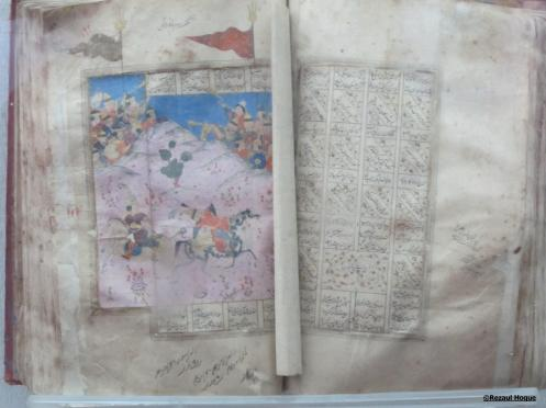 A hand-written copy of Ferdousi's Shahanama
