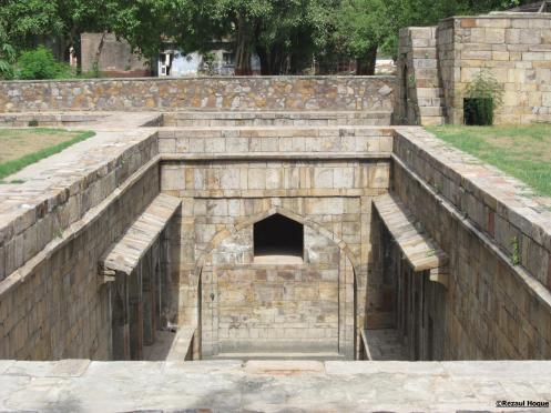 Baoli (Step well), Mughals built this type of wells all across India to store water and to provide relief from extreme summer heat.